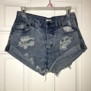 Size 28 Distressed jean shorts